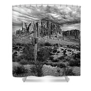 The Stormy Superstitions Shower Curtain