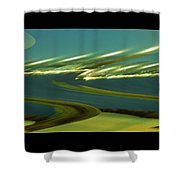 The Story Of Waves And Wind Shower Curtain