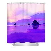 The Strand At Daybreak Shower Curtain