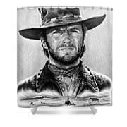 The Stranger Bw 1 Version Shower Curtain by Andrew Read