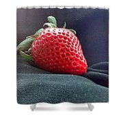 The Strawberry Portrait Shower Curtain