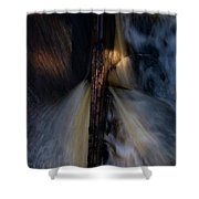 The Stream 2 Shower Curtain