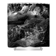 The Stream In Bw Shower Curtain