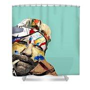 The Street Artist Shower Curtain
