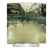 The Street Fall Shower Curtain