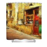 The Street  -- Original Painting Shower Curtain