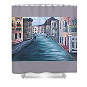 The Streets Of Italy Shower Curtain