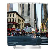 The Streets Of New York Shower Curtain