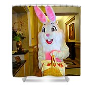 The St.regis Easter Bunny Shower Curtain