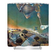 The Strife Of Wanderlust In A Dream Shower Curtain