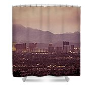 The Strip. 3 Of 4 Shower Curtain