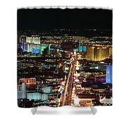 The Strip At Las Vegas,nevada Shower Curtain