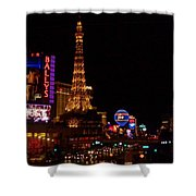 The Strip At Night 1 Shower Curtain