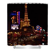 The Strip At Night 2 Shower Curtain