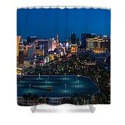 The Strip Las Vegas Shower Curtain