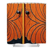 The Studded Door Shower Curtain