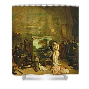 The Studio Of The Painter, A Real Allegory Shower Curtain