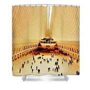 The Stunning Oculus In New York  Shower Curtain