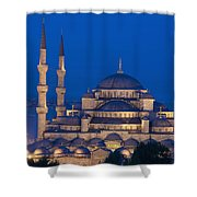 The Sultanahmet Or Blue Mosque At Dusk Shower Curtain