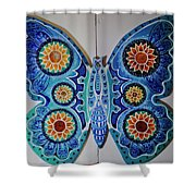 The Summer Butterfly Shower Curtain