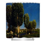 The Summer Day 1881 Shower Curtain