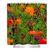 The Summer Flower Party Shower Curtain