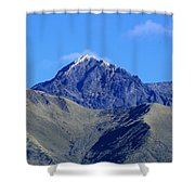 The Summit Of Mount Cotacachi Shower Curtain