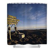 The Summit Of Mt. Kilimanjaro, Africas Shower Curtain