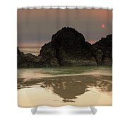 The Sun And Rocks Shower Curtain
