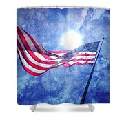 The Sun And The Flag Shower Curtain