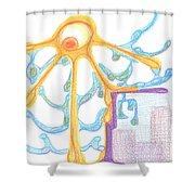 The Sun Breaks Clouds. 19 September, 2015 Shower Curtain