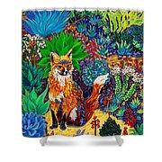 The Sun Fox Shower Curtain