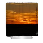 The Sun Has Set In Cape Cod Shower Curtain