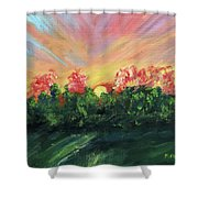 The Sun Is Setting Shower Curtain