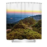 The Sun Of The Evening Of The Mountain And Sea Shower Curtain