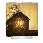 The Sun Rises Shower Curtain