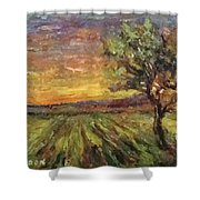 The Sun Rising / El Sol Naciente Shower Curtain