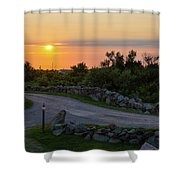 The Sun Sets On Block Island Shower Curtain