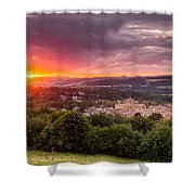 The Sun Sets Over Hexham Shower Curtain