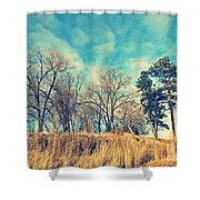 The Sunday Trees Shower Curtain
