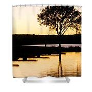 The Sunet Shower Curtain by Danielle Allard