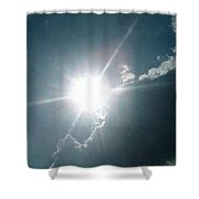 The Sun's Beams Shower Curtain