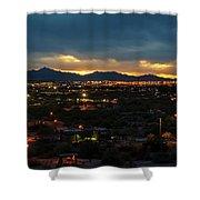 The Sunset From Popago Park Phoenix Arizona Az Golden Shower Curtain