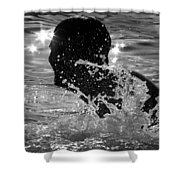 The Sunset Swim Shower Curtain