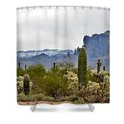 The Superstitions  Landscape Shower Curtain