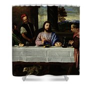 The Supper At Emmaus Shower Curtain by Titian
