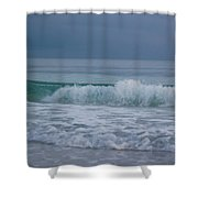 The Surf Rolls In At Holmes Beach Shower Curtain