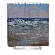 The Surf Walker Shower Curtain