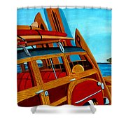 The Surfers Ride Shower Curtain