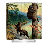 The Surprise Party Shower Curtain